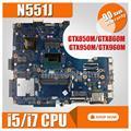 Multiple configuration Laptop motherboard for ASUS N551J N551J G551J N551JK N551JW N551JB N551JM N551JQ Mainboard Motherboard