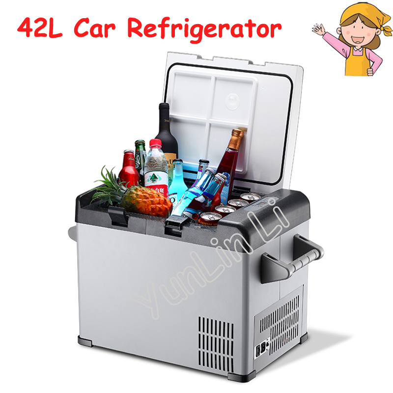 42L Car/Household Refrigerator Portable Mini Fridge Compressor Freezer Cooler Box Insulin Ice Chamber Depth Refrigeration BCD-42