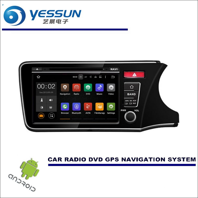 YESSUN Wince / Android Car Multimedia Navigation System For Honda CITY 2014~2017 RHD CD DVD GPS Player Navi Radio Stereo Screen yessun for mazda cx 5 2017 2018 android car navigation gps hd touch screen audio video radio stereo multimedia player no cd dvd