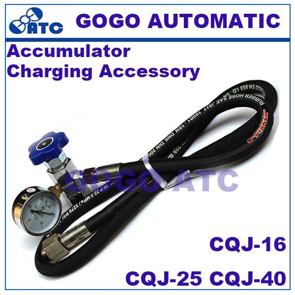 High Quality Hydraulic Accumulator Charging Accessory CQJ-16 CQJ-25 CQJ-40 Thread M14*1.5 CQJ Type Nitrogen N2 Tools NXQ Series