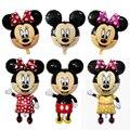 1 Pcs Mickey Mouse Minnie cabeça de balão da folha de Aniversário Dos Miúdos Fontes Do Chuveiro do Bebê Decoração Do Partido Inflável Mitch Nemini Ballon