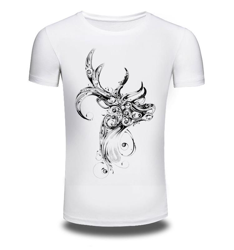 2017 New Men/Women Summer Fashion Short Sleeve Brand Clothing T Shirt 3D Print Shirt T-shirt Animal White T-shirts Top Tee AW070