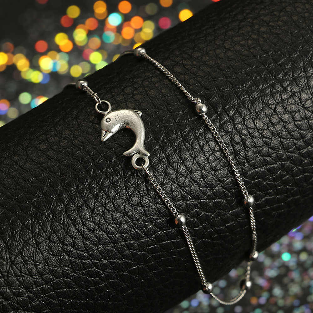 Boho Initial Anklet Bracelet Stylish Anklet Bracelet Beach Ladies Jewelry Gothic Anklets Beads For Women Accesorios Mujer  L0524
