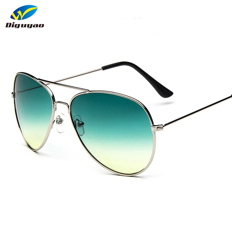DIGUYAO Klasik Mode sunglass Wanita Multi MGradient Kacamata pria Mengemudi Cermin kacamata Percontohan Poin Merek Oculos de sol