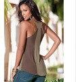 2016 camisa femenina de las mujeres camisas de moda de corea gasa sólido ropa vetement femme verano tops roupas feminina blusas