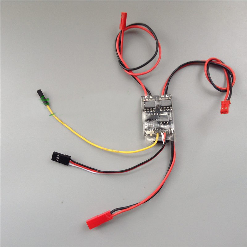 Image 4 - 1PCS Dual Way Bidirectional Brushed ESC 2S 3S Lipo 5A  Speed Control for RC Model Boat/Tank 130 180  Motor Spare Parts-in Parts & Accessories from Toys & Hobbies