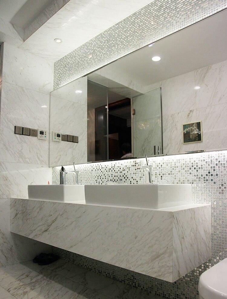 10mm 13 beveled Silver Mirror glass mosaic tiles 10mm kitchen ...