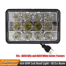 AGCO Allis White Series LED Hood Light TL9020 6x4 Hi Lo Flood Spot Beam Pattern 12