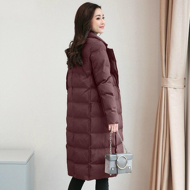 Tcyeek размера плюс 4XL зимняя куртка Женская корейская мода пальто 2019 Длинная женская одежда верхняя одежда парки Топы Chaqueta Mujer LWL811 - 4