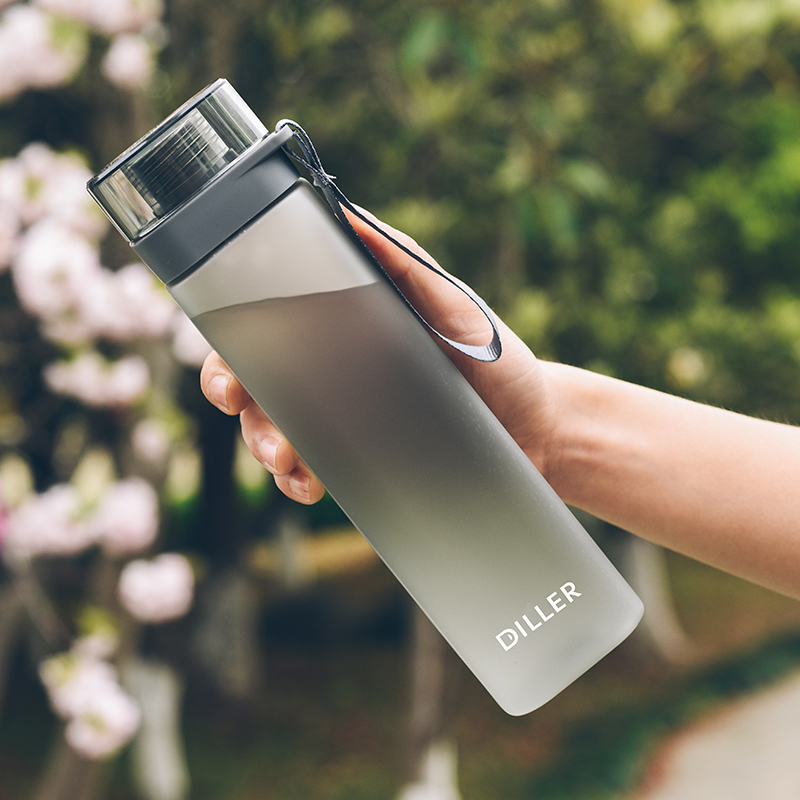 Creative Square Plastic Water Sports Bottle Outdoor Travel Water Jug Children Portable Bottles for Water Fruit Drink bottle-in Water Bottles from Home & Garden on AliExpress