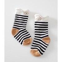 Cartoon Donkey Socks Baby Cotton Anti Slip Sock Newborn Toddler Knee High Sock Cute Baby Animals