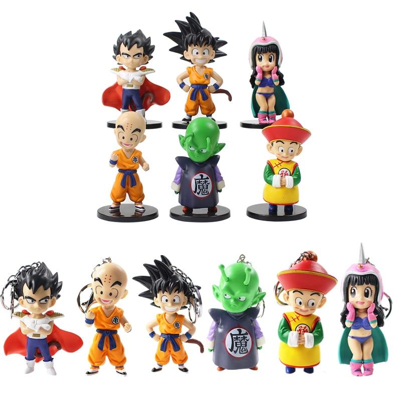 Bulma Gohan SET 13 FIGUREN: Goku DRAGON BALL Chichi Videl Trunks Krilin