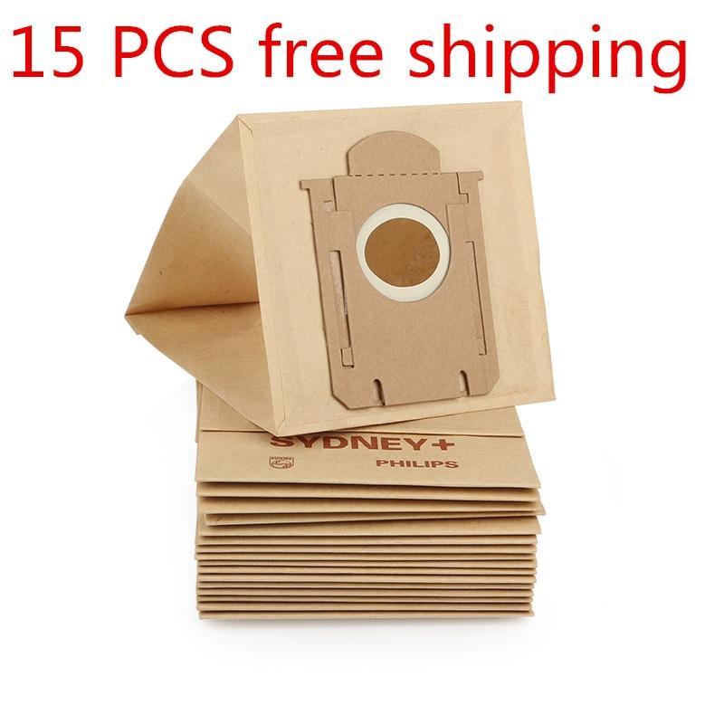 15PCS  vacuum cleaner bags Dust Bag  for Philips FC8202 FC8203 FC8204 FC8205 FC8206 FC8208 FC8312  FC8220 HR8300 HR8349 FC9000 10pcs washable vacuum cleaner bags dust bag replacement for philips fc8134 fc8613 fc8614 fc8220 fc8222 fc8224 fc8200 free post