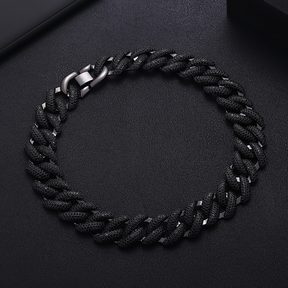 Image 5 - Accking Full  CZ Statement Cuban Link Chain Choker Necklace adjust for Man or Women Bijoux Wholesale free shipping-in Choker Necklaces from Jewelry & Accessories