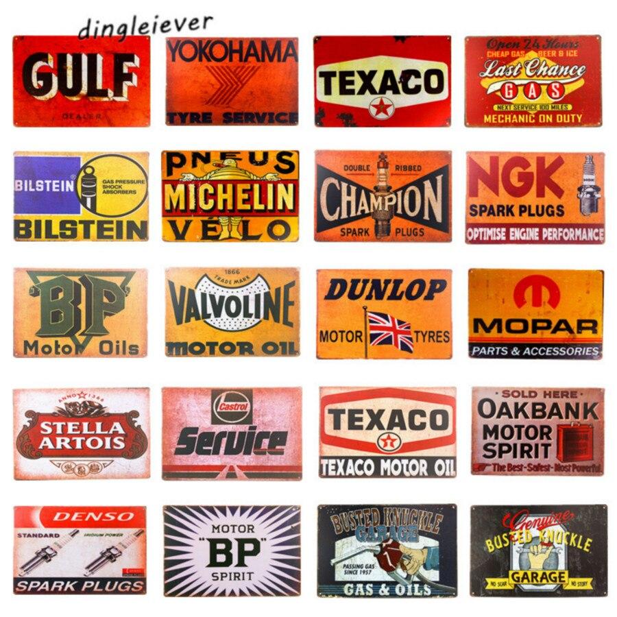 Metal Tin Sign gulf oil Bar Home Pub Vintage Retro Poster Cafe ART