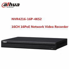 Dahua 16CH 16POE NVR NVR4216-16P-4KS2 Video Recorder 4K 1U H.265 2 SATA ONVIF HDMI HDD Up to 8MP Camera CCTV Surveillance NVR