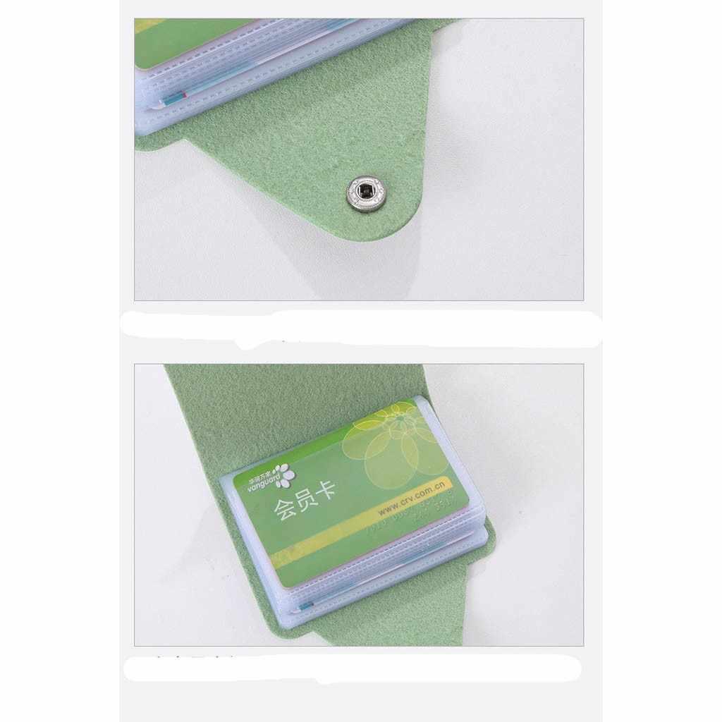 Mode PU cuir multi-fonction porte-carte de crédit femmes dessin animé mignon carte de crédit passeport sac ID passeport carte portefeuille # H5