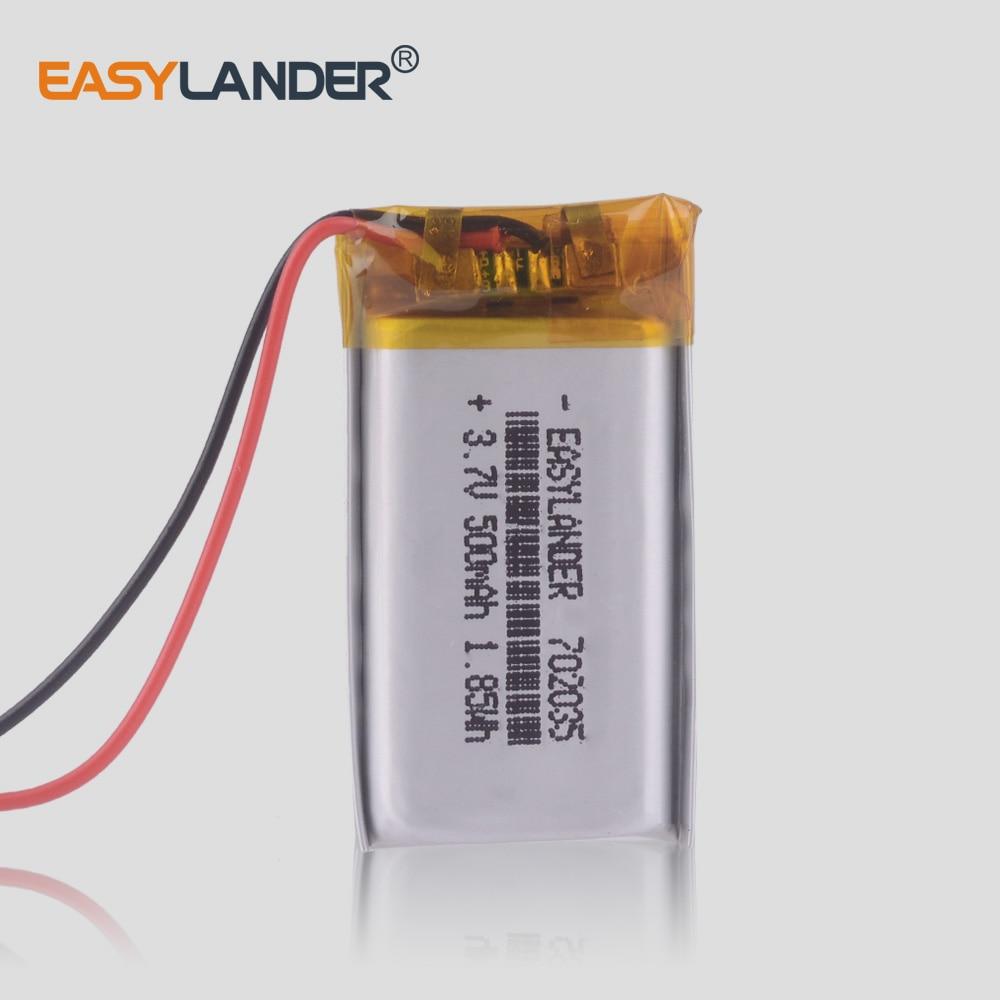 3.7V 802035 802033 702035 500mAh polymer lithium battery li-ion rechargeable battery Driving recorder speaker