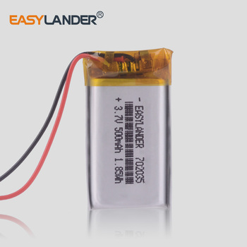 3.7V 802035 802033 702035 500mAh polymer lithium battery li-ion rechargeable battery Driving recorder speaker image
