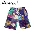 2017 Summer Men's Linen Shorts Men Causual Loose Beach Shorts Homme Fashion Floral Ethnic Ball Multi Short Big Yards M-6XL
