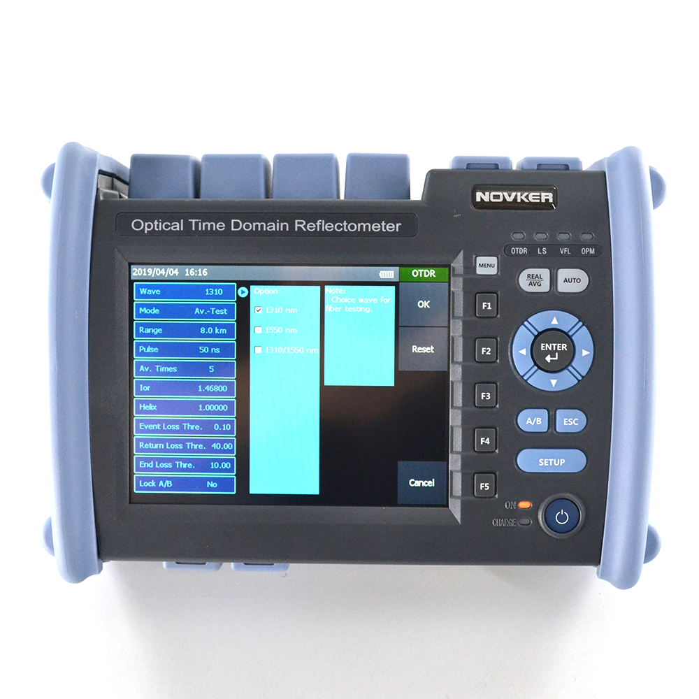 NOVKER SM OTDR NK6000-S1 1310/1550 35/33dB built in FLS OPM VFL Intelligent optical link mapper