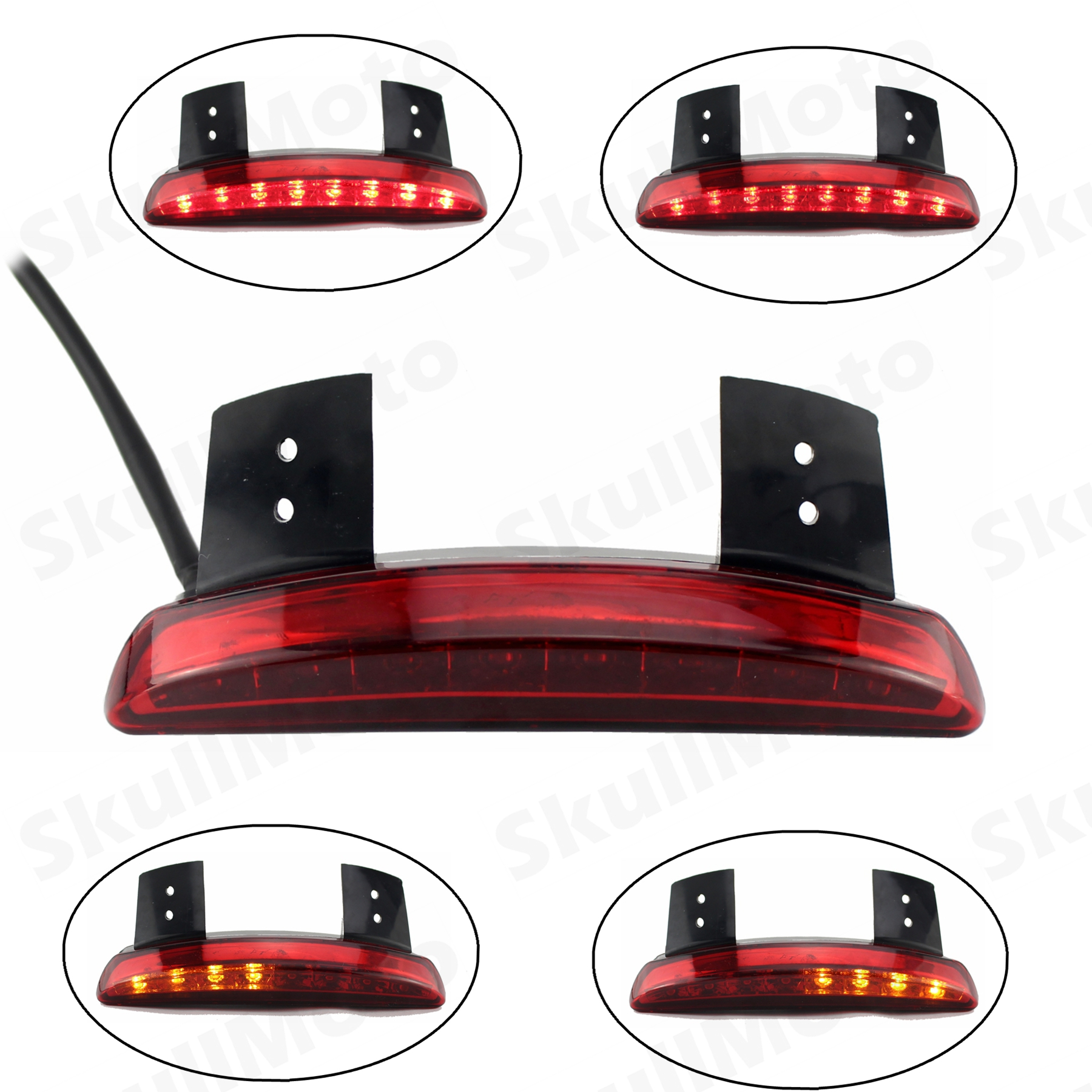 Motorcycle Fender Edge <font><b>LED</b></font> Tail Light Fits for Harley Iron <font><b>883</b></font> XL883N XL1200N Chopped Red Lens image