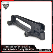VMASZ Airsoft Metal M4 M16 AR15 Detachable Carry Handle Hunting Dual Apertures A2 Rear Sight for 20mm Picatinny Rail Combo Mount