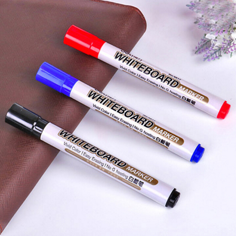 10pcs/lot Whiteboard Marker Pen Red/Blue/Black Ink Color Pens School Supplies High Quality Whiteboard Pens Material Escolar touchnew 60 colors artist dual head sketch markers for manga marker school drawing marker pen design supplies 5type
