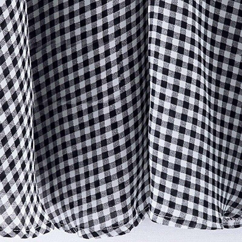 Frühling Herbst Casual Frauen Plaid Bluse Kurzarm Kleidung Weibliche - Damenbekleidung - Foto 3