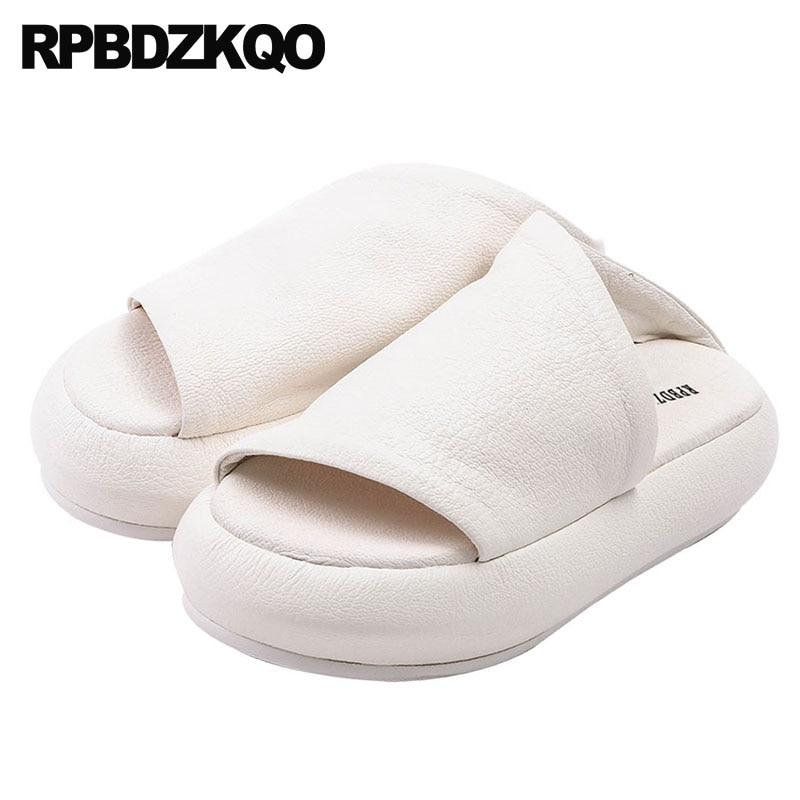 Blancas Sandalias Diseñador Verano 1 Zapatillas Planas Zapatos Mujer rsQthd