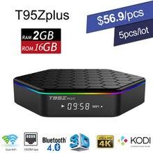 DHL Android 6.0 TV Box Amlogic S912 Octa Core T95Z Plus Mini PC 2GB 16GB 3D Smart Media Player KODI Wifi Bluetooth 4K Dolby