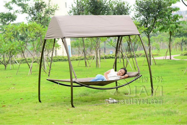 Schommel Voor Tuin : Luxe patio vrije stoel buiten duurzaam ijzer tuin schommel bed