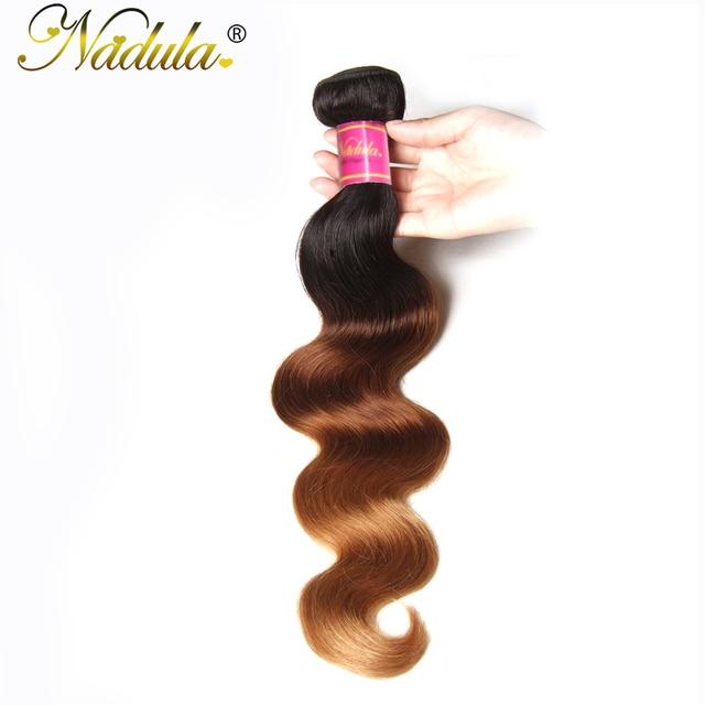 Nadula Hair Brazilian Body Wave Ombre Hair 16 26inch Remy Hair 100