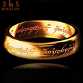 2017 Magic Letter The Lord of One Ring Black Silver Gold Titanium Stainless Steel Ring for Men Women senhor dos aneis