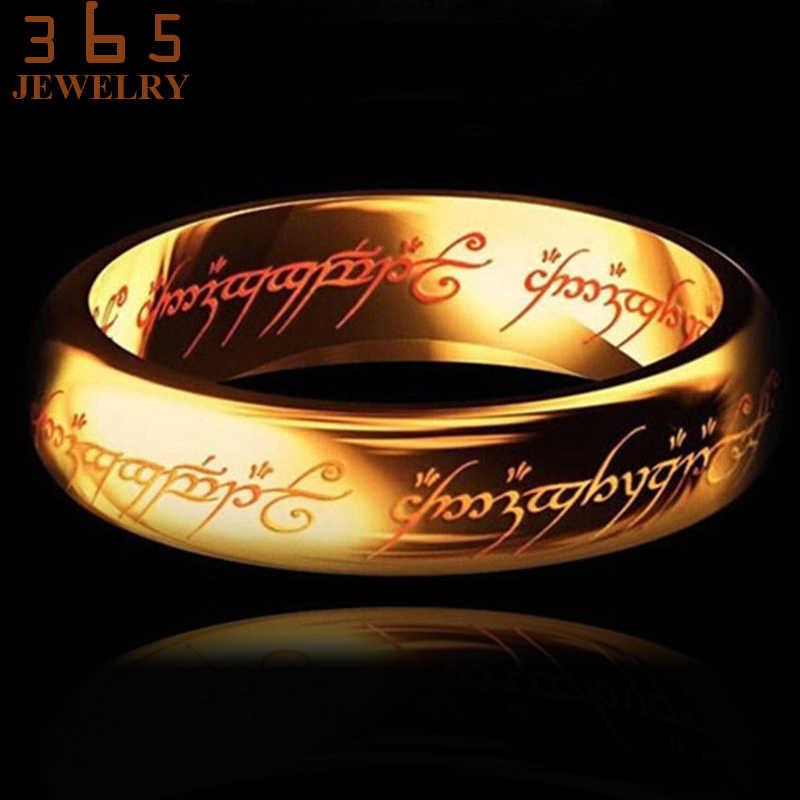 2017 волшебное кольцо с надписью «The Lord of One», черное серебряное золото, титановое кольцо из нержавеющей стали для мужчин и женщин senhor dos aneis