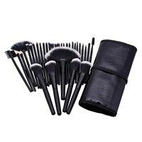 Professional Makeup Brushes 32pcs Cosmetic Kit Eyebrow Blush Foundation Powder Make Up Brush Set With Black