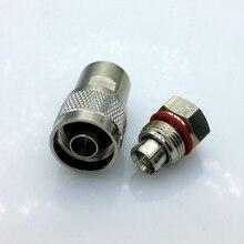 N тип штекер L16 Коаксиальный разъем для 50-6 Коаксиальный гофрированные кабель GPS фидерной линии кабель