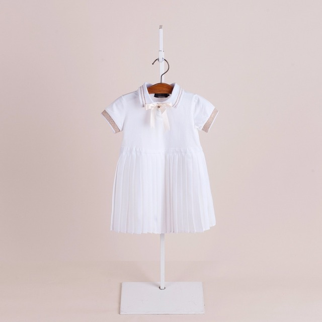 ecc87e1f9e2f2 US $69.0 |Top quality 100% cotton baby dress classical 2018 summer baby  clothes whole sale 5 sets/lot!college princess for 2 7Years -in Dresses  from ...