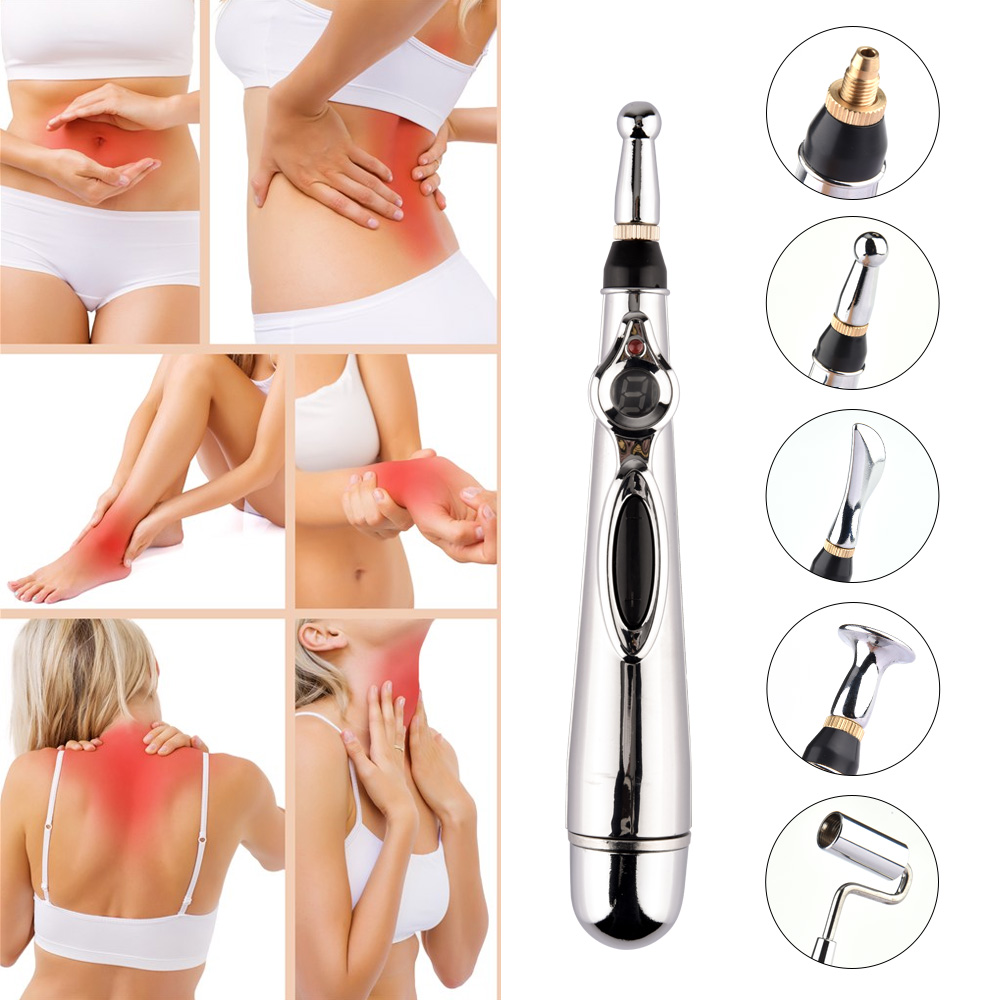 Alívio da dor terapia caneta eletrônica acupuntura caneta energia curar massagem cabeça do corpo massagem meridiano seguro cuidados de saúde ajudante 5
