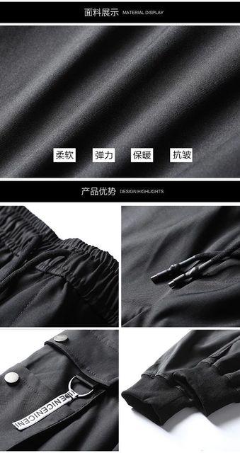 Men's Side Pockets Cargo Harem Pants 2020 Hip Hop Casual Male Tatical Joggers Trousers Fashion Casual Streetwear Pants 21