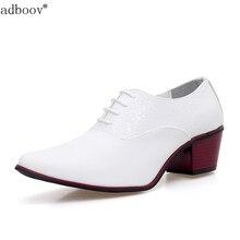 Messieurs 6 cm à talons hauts chaussures de mariage pur blanc noir couleur hommes intensifient talon partie chaussures 2.3 pouces à talons hauts en cuir chaussures homme pas cher