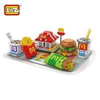 New LOZ Super Box Building Blocks McDonald S Creator Model Delicious Food Bricks Nano Block Hamburg