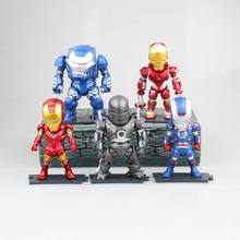 9.5-10cm Anime figure 5pcs/lot the avanger MK1 MK35 Iron man Hulkbuster action figure collectible model toys for boys(China)