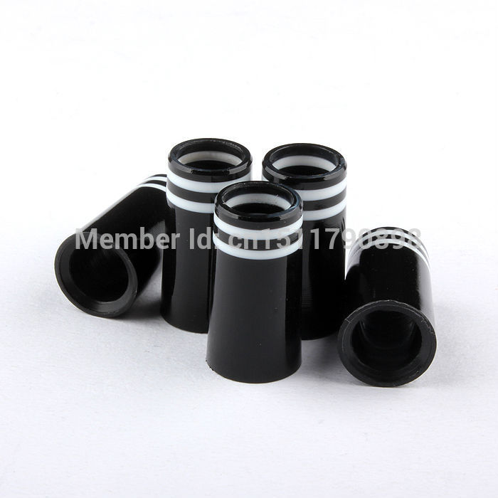 Free Shipping 30Pcs .370 Golf  White Black Ferrules For Golf Driver Fairway Ferrule