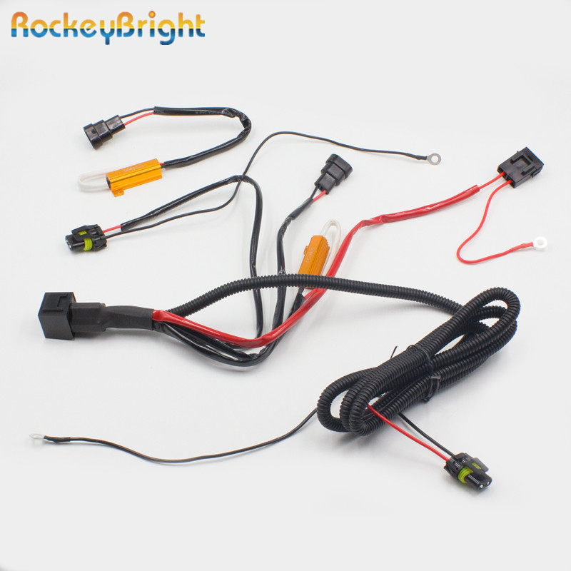 us $50 82 16% off relay harness plug connector hid conversion kit wiring harness with resistor h1 h3 h4 h7 h8 h11 9005 9006 conversion kit relay in hid headlight relay wiring diagram atp oz usa harness plug wiring kit
