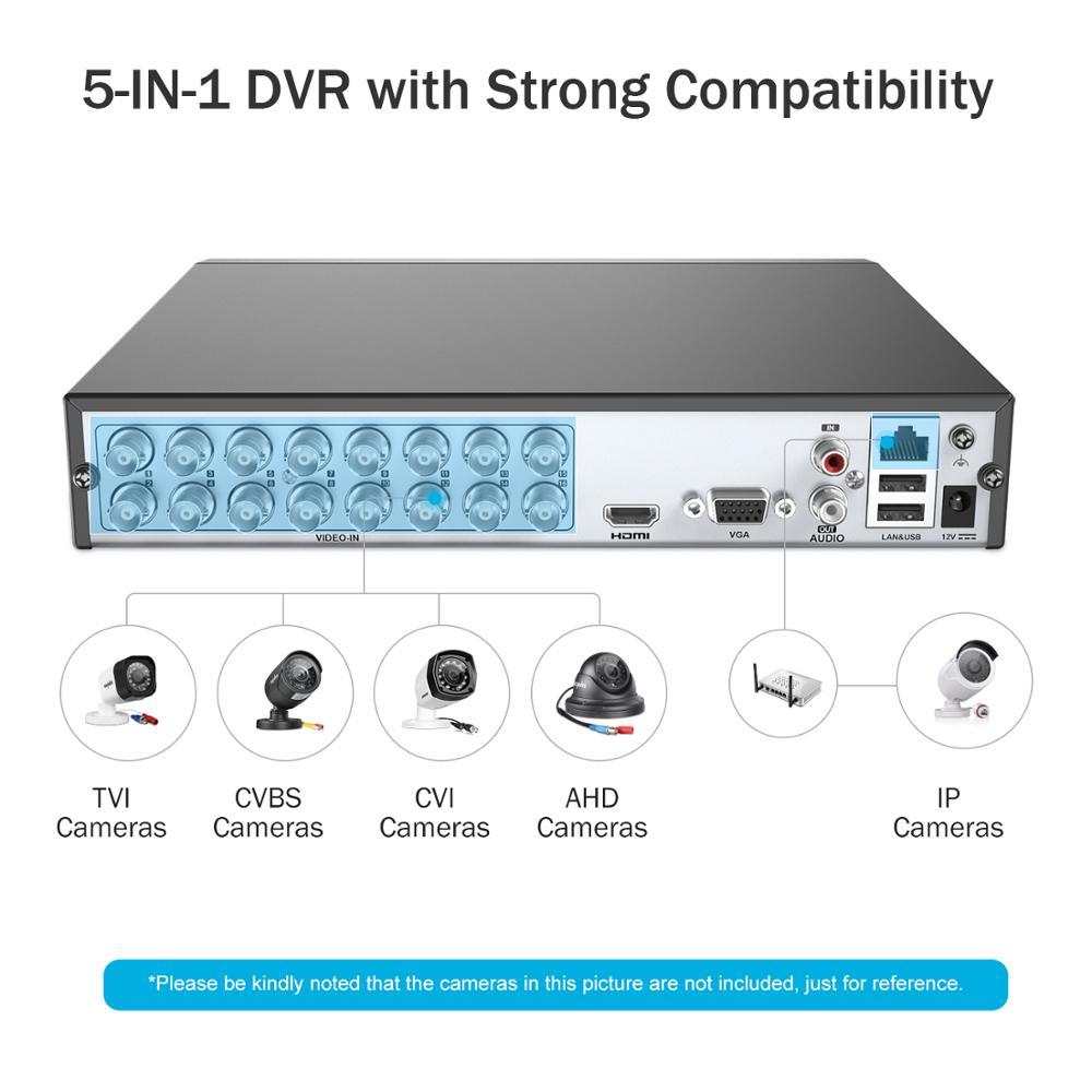 ANNKE 16CH HD 3MP système de vidéosurveillance 5IN1 DVR 16 pièces TVI caméra dôme de sécurité extérieure étanche PIR détection mouvement Kit vidéo maison-in Système de surveillance from Sécurité et Protection    2