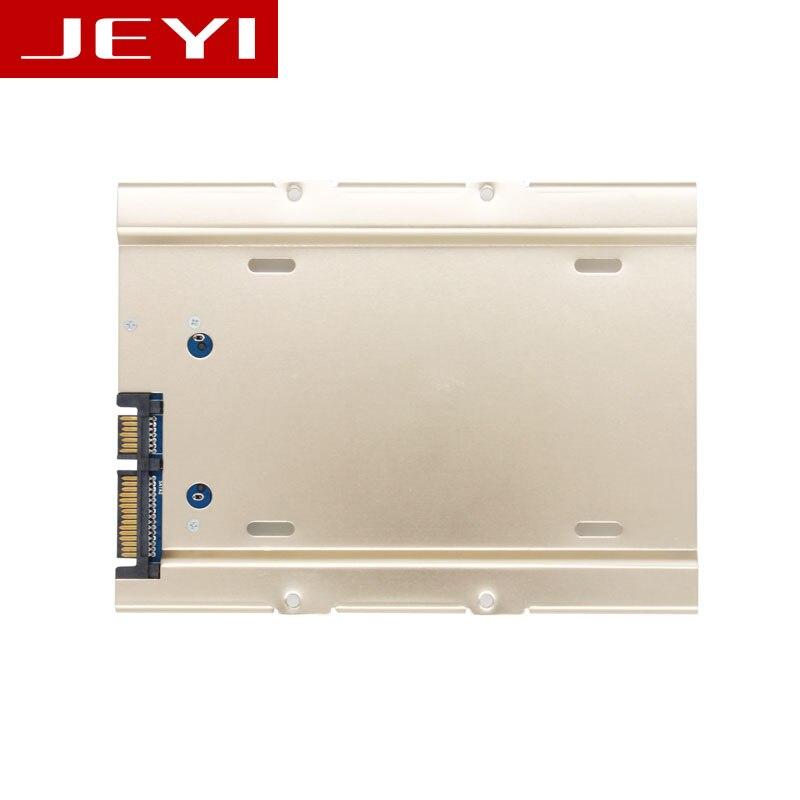 JEYI K109 Sunucu 2.5 3.5 Sabit disk tepsisi çekmecesi kutusu can alüminyum SATA3 arayüzü ile kullanılabilir 3.5 Caddy SATA3 Tam vida uçları