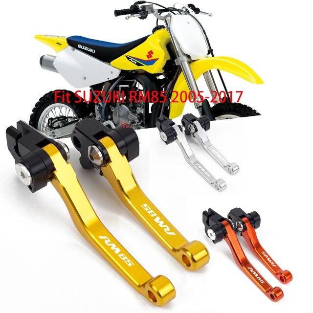 Levier de guidon de moto pour moto | Pivot à 2005, levier de frein, Dirt Bike leviers de guidon de Motocross pour Suzuki RM85 RM 85 2014-2015 2016 2017