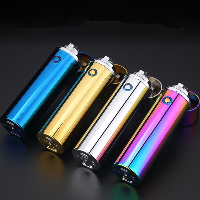 Image 2 - New Cigar USB Lighter Electric 6 Pulse Arc Tobacco Pipe Lighter Cigarette Powerful Six Plasma Thunder Metal Cigarette Accessory-in Cigarette Accessories from Home & Garden