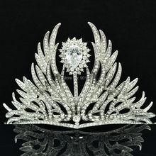 Бесплатная Доставка Цветок Крона тиары для Невесты Свадебные Украшения Аксессуары с Ясно Австрийский Горный Хрусталь Кристаллы SHA8630